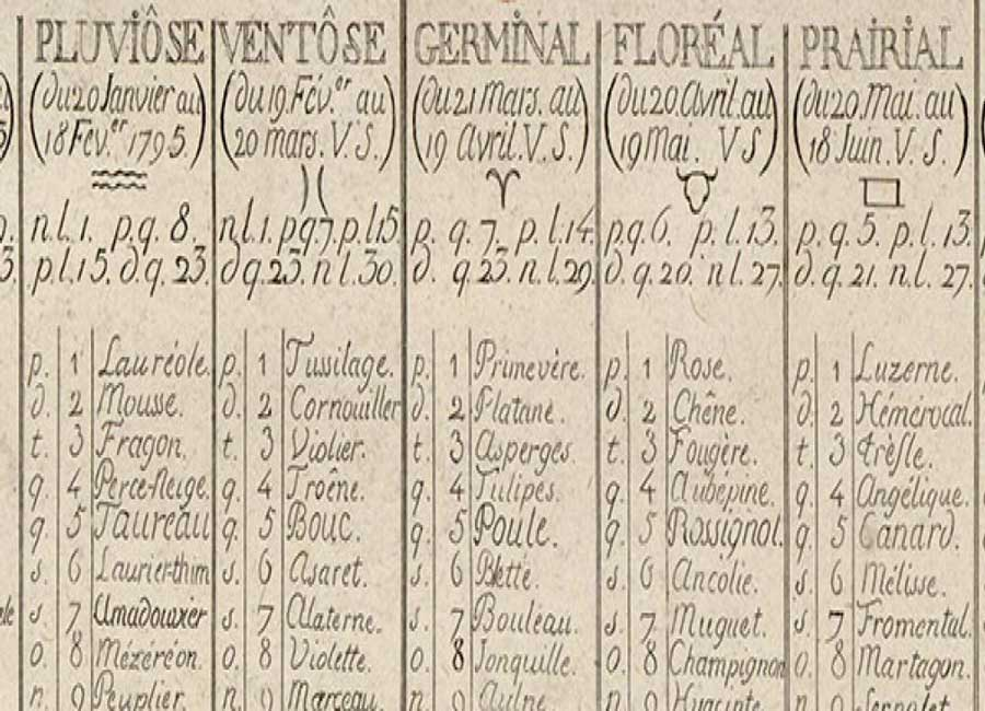 calendrier republicain